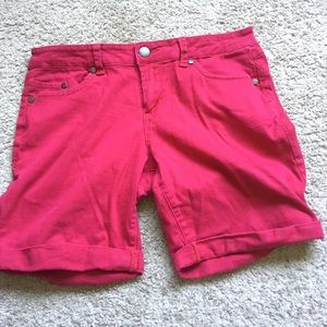 Forever 21 Shorts, red, mid-length
